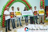 Foram sorteados 28 mil reais em prêmios entre os clientes que compraram nas lojas participantes da promoção (Foto: Folha de Naviraí/Jr Lopes)