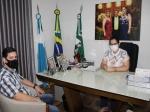 Presidente da Associação Comercial e Empresarial apresentou pleitos à Rhaiza Matos